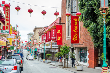 SAN FRANCISCO USA MAY 182015 San Francisco Chinatown is the largest to Chinatown outside of Asia as well as The oldest Chinatown in North America.