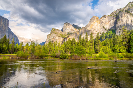 merced: Yosemite Valley Merced river with meadows