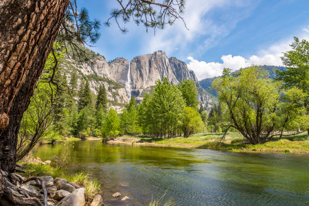 merced: Merced river and Yosemite Upper fall