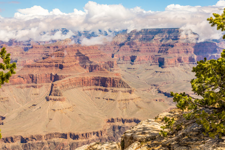 hopi: View from Hopi Point Grand Canyon North Rim Stock Photo