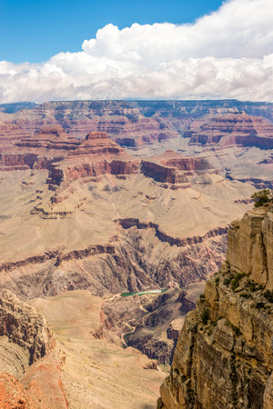 pima: View at North Rim of Grand Canyon from Pima point Stock Photo