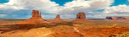 geologists: Panorama view at the Monument Valley Navajo Tribe Park Stock Photo