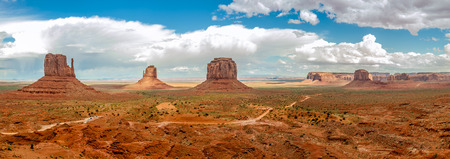 geologists: Panoramic view at the Monument Valley Navajo Tribe Park