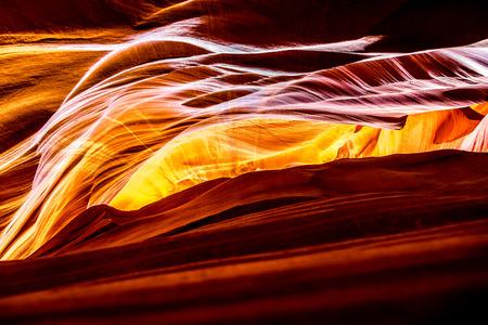geologists: Inside the Upper Antelope Canyon Arizona Stock Photo