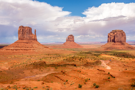 geologists: View at the Monument Valley in Navajo Tribe Park