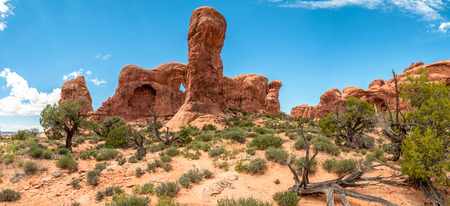 geologists: Parade of Elephants in Arches National Park Stock Photo