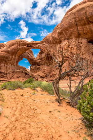geologists: View at the Double Arch in Arches National Park