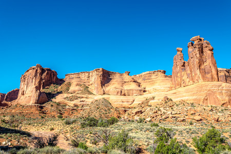 geologists: Rock Formation Three Gossips in Arches National Park