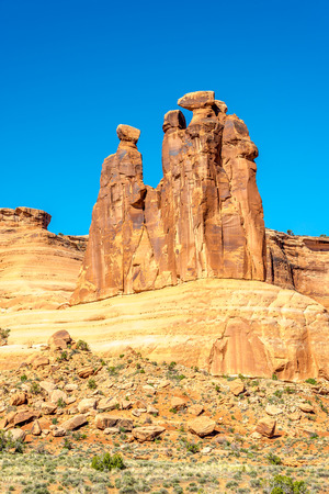 geologists: Three Gossips in Arches National Park