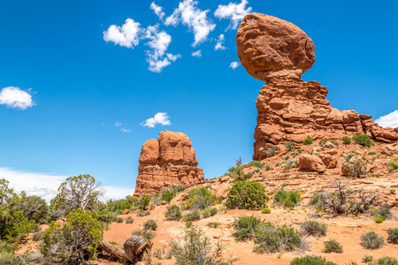 balanced: Balanced Rock in Arches National Park