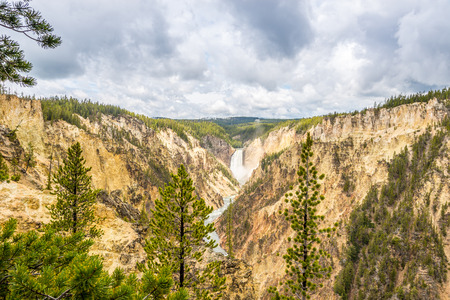 geologists: Yellowstone falls in National Park  - Wyoming