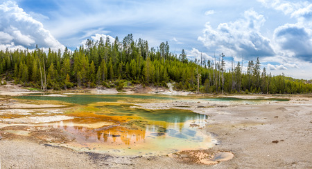 geologists: Nature in Norris Basin - Yellowstone National Park
