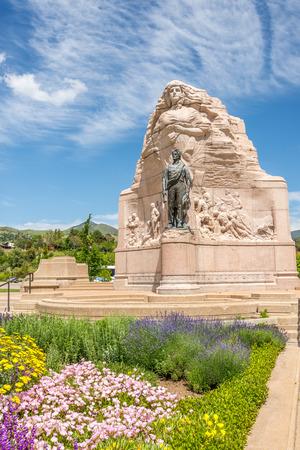 batallon: Memorial del Batall�n Morm�n en Salt Lake City - Utah Foto de archivo