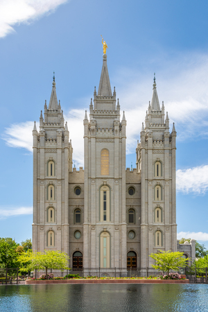 Fascade of Salt Lake Temple - Utah