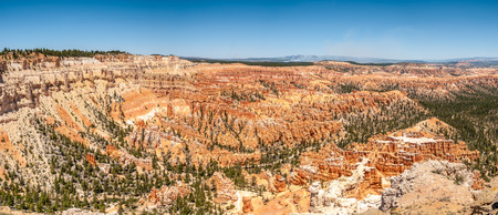 geologists: Panoramic view from Bryce point at the Bryce Canyon Stock Photo