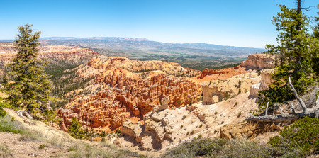 geologists: Panoramic view from Piracy Point to the Bryce Canyon Stock Photo