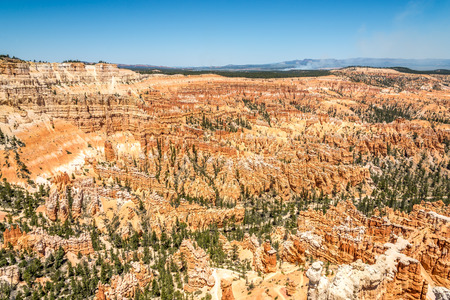 geologists: View from Inspiration Point at the rock formation of Bryce Canyon Stock Photo