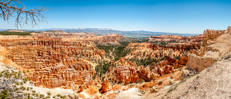 geologists: Panoramic view from Inspiration point at the Bryce Canyon Stock Photo