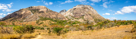 anja: Panorama view at the Rocks in Anja park - Madagascar Stock Photo