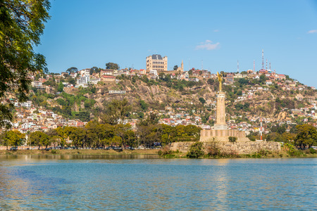 View at the Antananarivo from Anosy lake - Madagascar Stock Photo
