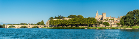 pontiff: Panoramic view at the Palace of the Popes in Avignon - France Editorial