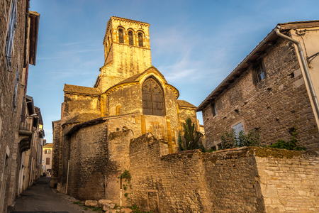 the madeleine: Madeleine Church in Tournus - France Stock Photo