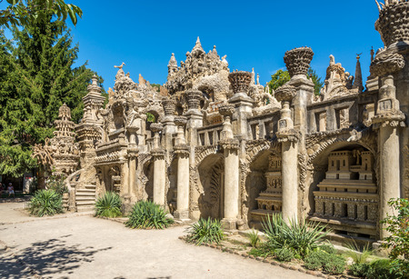 ideal: Hauterives, FRANCE - AUGUST 29.2015 - Palais Ideal du facteur Chevalthe Ideal Palace in Hauterives.The Palace is regarded as an extraordinary example of nave art architecture. Editorial