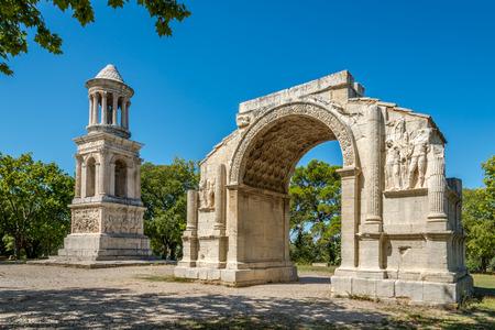 antiques: Ancient Les Antiques of Saint-Remy-de-Provence - France