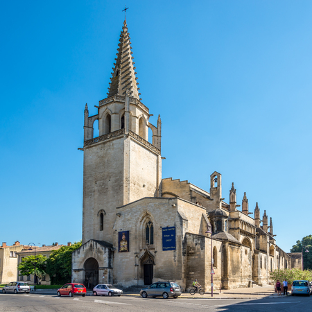 martha: TARASCON,FRANCE - AUGUST 30,2015 - St.Martha Church is where, according to a local tradition, the biblical figure Martha is buried. The church was built half-Romanesque in the 12th century and half-Gothic in the 14th century. The crypt dates from the 3rd  Editorial
