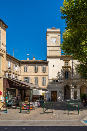 SAINT REMY DE PROVENCE, FRANCE - AUGUST 30.2015 - In the streets of Saint-Remy-de-Provence.Saint-rm-de-Provence is a commune in the Bouches-du-Rhne department in southern France.