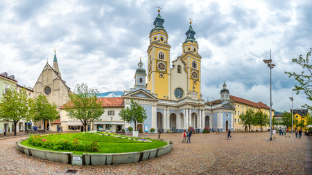september 2: BRESSANONE,ITALY - SEPTEMBER 2,2015 - Cathedral of Santa Maria Assunta and San Cassiano in Bressanone. Bressanone  is a town in South Tyrol in northern Italy.