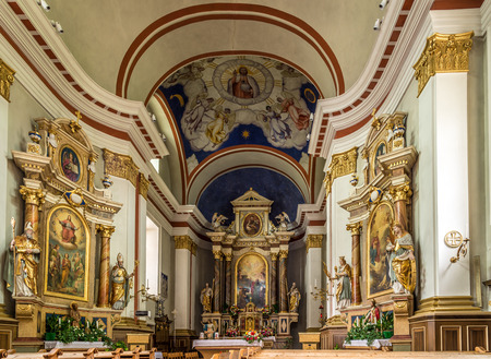 SESTO,ITALY - SEPTEMBER 4,2015 - Altar in church of St.Peter and Paul in Sesto. The parish church of Peter and Paul is a church in Sexten, South Tyrol. It is dedicated to the apostles Peter and Paul.