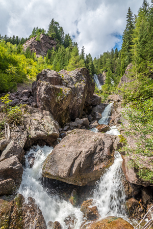 alto adige: Waterfall in Alto Adige mountains - Italy