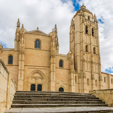 segovia: Facade of Cathedral in Segovia - Spain