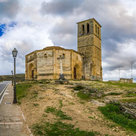 segovia: The Templar Church La Vera Cruz of Segovia in Spain