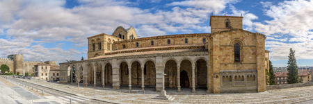 avila: Avila, SPAIN - APRIL 23.2016 - Basilica of San Vicente in Avila. It is one of the best examples of Romanesque architecture in the country. Editorial