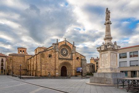 san pedro: Church San Pedro at the Santa Teresa place in Avila - Spain Editorial