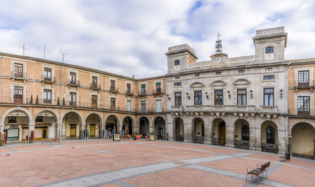 avila: Market place with Town Hall in Avila - Spain Editorial
