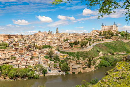 toledo: View at the Toledo old Town with Tajo river - Spain