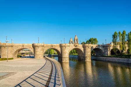 toledo: Bridge of Toledo over Manzanares river in Madrid,Spain.