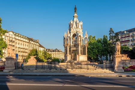 ジュネーブ - スイス連邦共和国でブランズウィックの記念碑 写真素材