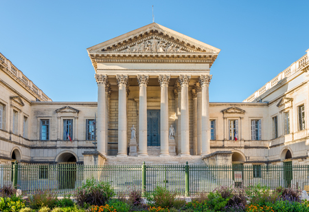 View at the Justice Palace in Montpellier - France