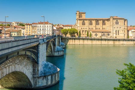 bernard: ROMANS SUR ISERE,FRANCE - AUGUST 26,2016 - Sant Bernard church in Romans sur Isere.It is a commune in the Drome department in southeastern France.