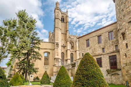 Cathedral os Saint Just ant Saint Pasteur in Narbonne - France Stock Photo