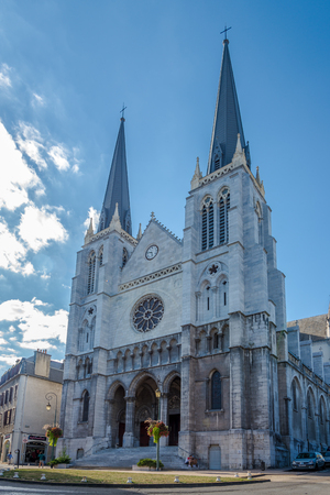 saint jacques: PAU,FRANCE - AUGUST 30,2016 - Saint Jacques church in Pau. Pau is a commune on the northern edge of the Pyrenees.