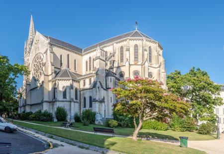saint martin: PAU,FRANCE - AUGUST 30,2016 - Church of Saint Martin in Pau. Pau is a commune on the northern edge of the Pyrenees.