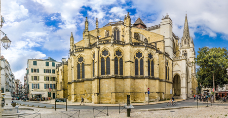 BAYONNE,FRANCE - AUGUST 31,2016 - View at the Cathedral of Saint Marie in Biarritz. Biarritz is a city on the Bay of Biscay, on the Atlantic coast in the Pyrenees-Atlantic department. Editorial