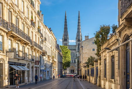 wine industry: BORDEAUX,FRANCE - AUGUST 31,2016 - In the streets of Bordeaux. Bordeaux is the worlds major wine industry capital.