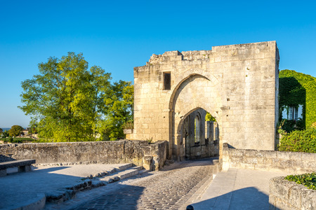 Ruins of Brunet Gate in Saint Emilion - France