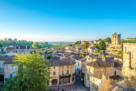 saint emilion: Morning view at the Saint Emilion in France Stock Photo